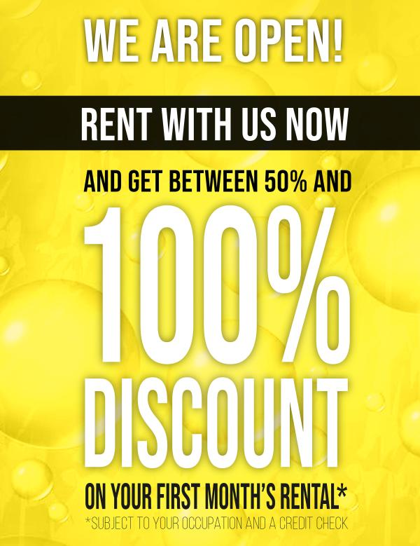 Urbanvest August rental discount banner